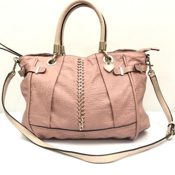 Guess Handbags - Guess croc embossed whipstitch mauve satchel bag 54725982e8e95